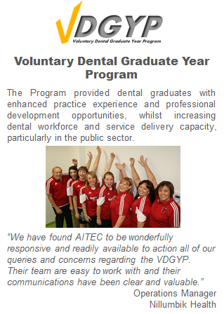 Voluntary Dental Graduate Year Program